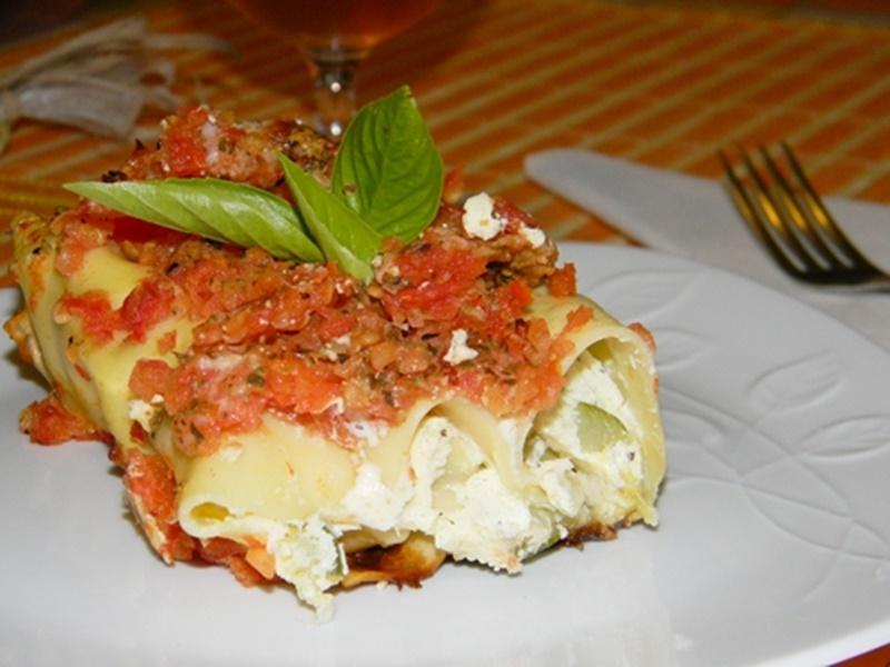 Cannelloni cu ricotta si zucchine