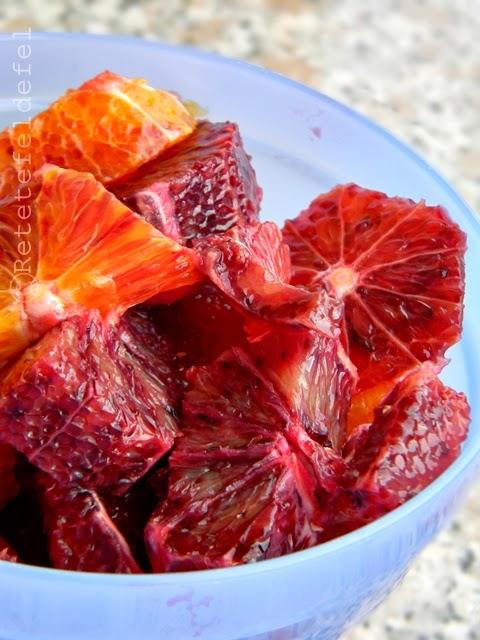 Verrines cu portocale rosii si iaurt