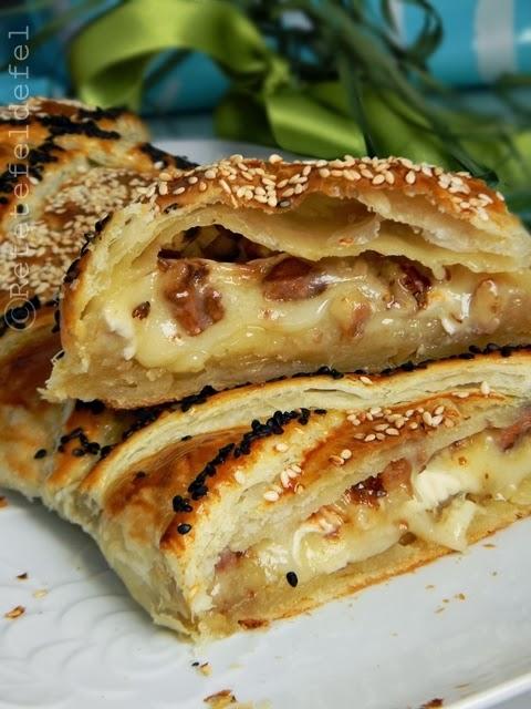 Brie in foietaj cu nuci si miere