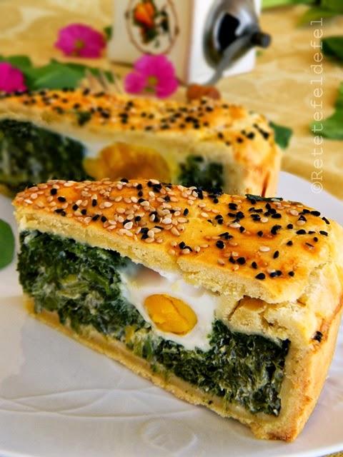 Tarta cu spanac si oua