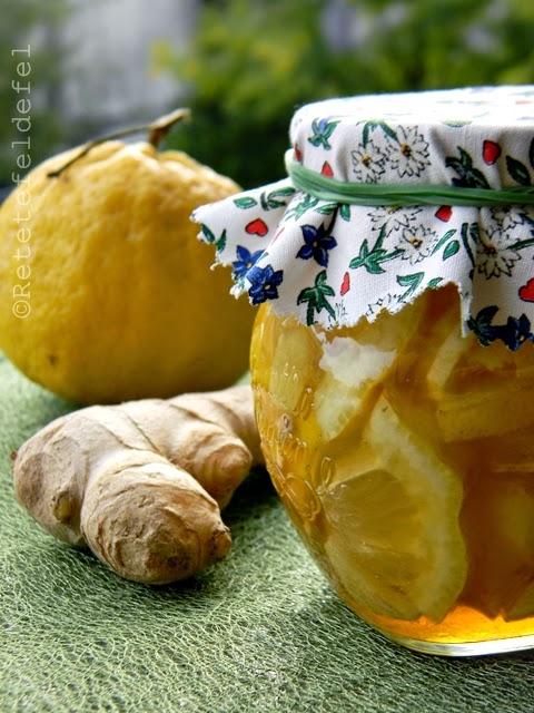 ghimbir cu miere si lamaie