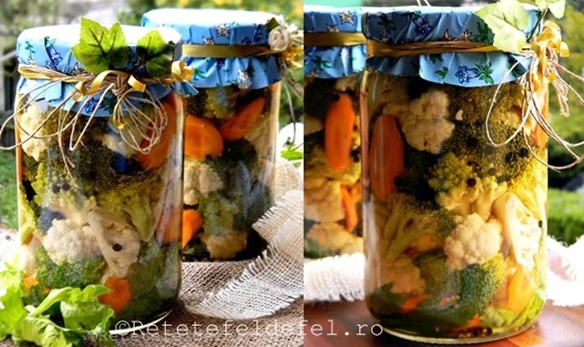 Conopida si broccoli in saramura