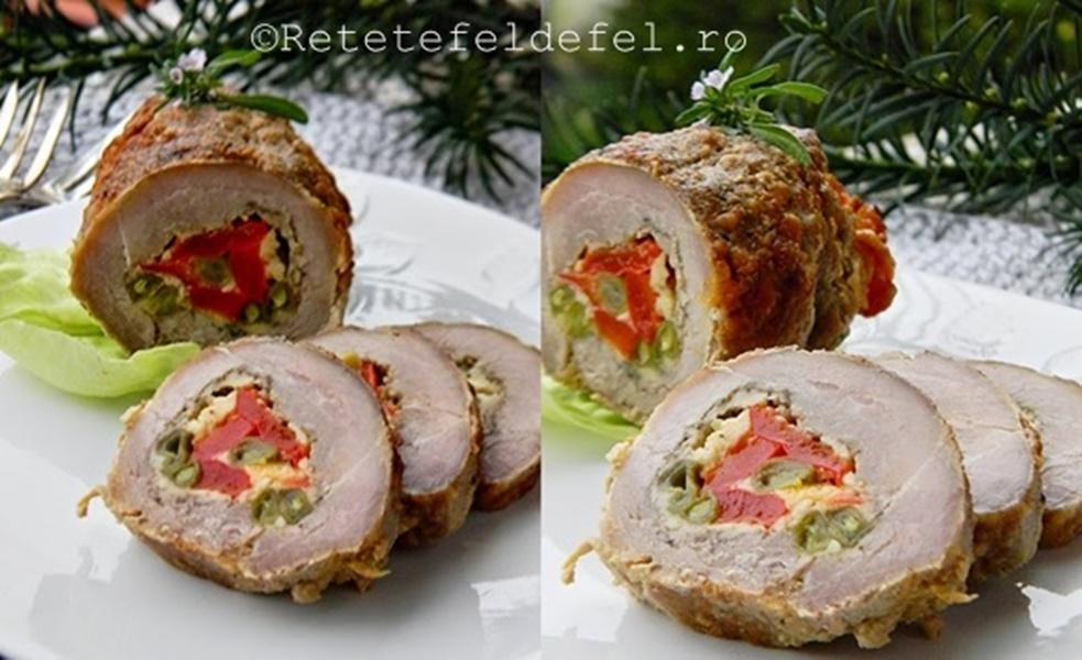 Rulada de porc cu cascaval si legume re ete fel de fel