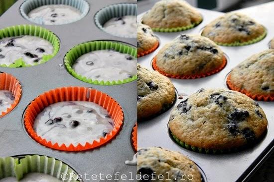 muffins cu coacaze