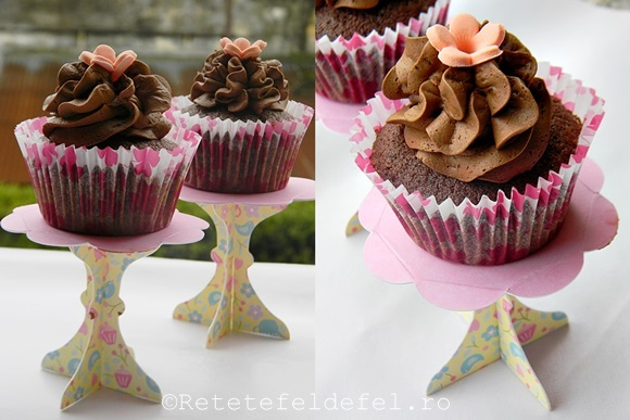 cupcakes cu crema ganache