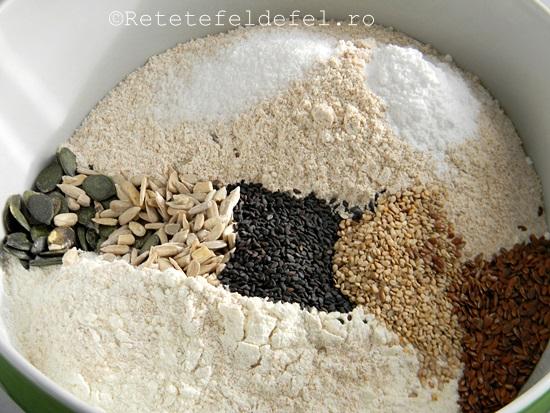 paine integrala cu bicarbonat si seminte 002