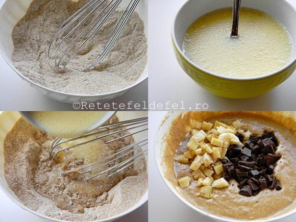 muffins integrali cu ciocolata si banane 1
