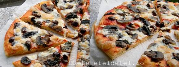 pizza cu ciupercisi masline