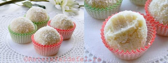 bomboane de cocos cu vanilie