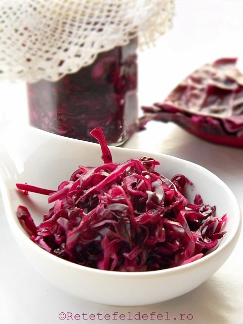 salata de varza rosie la borcan