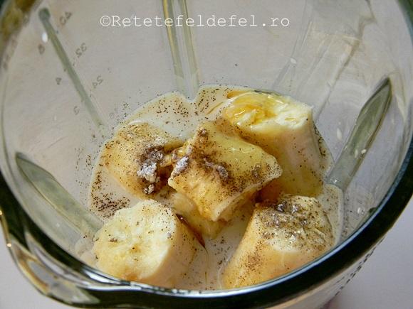 budinca de banane cu seminte de chia
