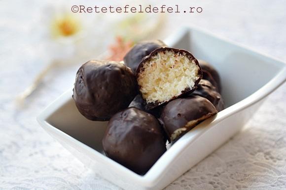 bomboane de cocos cu ciocolata