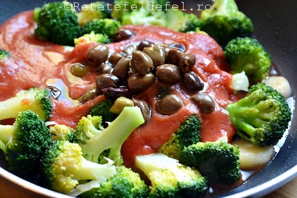 Paste cu broccoli si masline