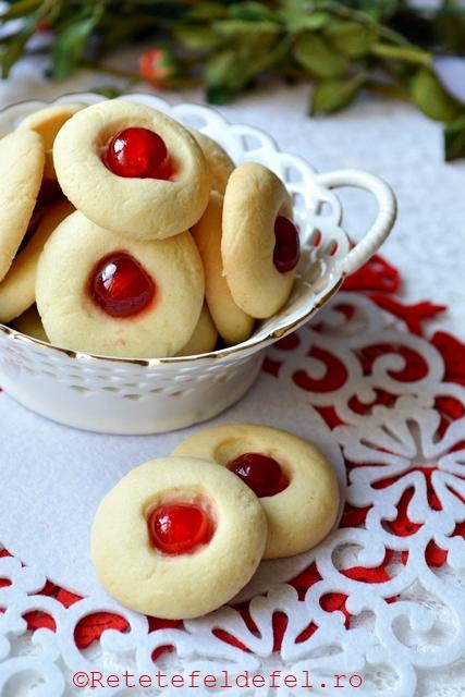 biscuiti cu cirese confiate