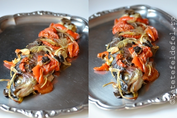 pastrav cu legume la cuptor
