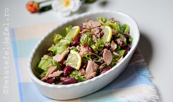 salata de fasole rosie cu ton