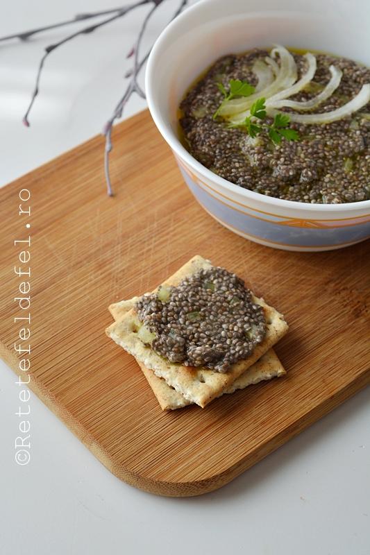 salata de icre vegetale din seminte de chia