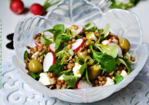 salata mixta cu linte