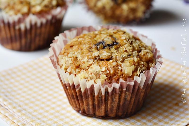 muffins cu banane si fulgi de ovaz