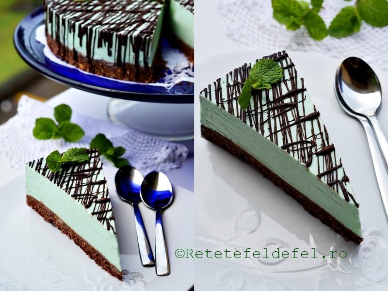 cheesecake cu menta si ciocolata