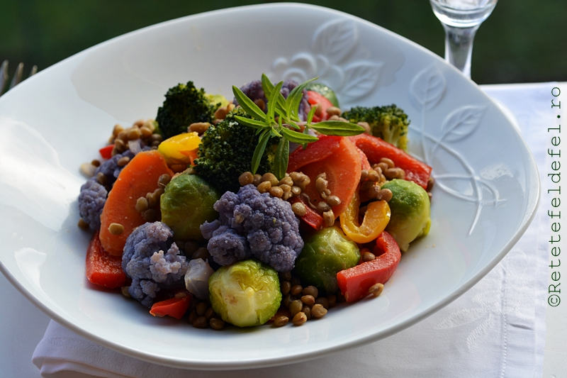 legume cu linte la wok