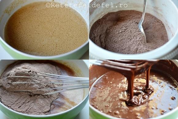 tort cu ciocolata,mascarpone si ananas
