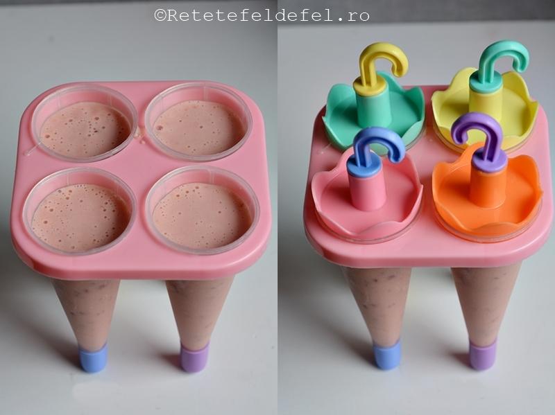 Inghetata pe bat cu iaurt si fructe