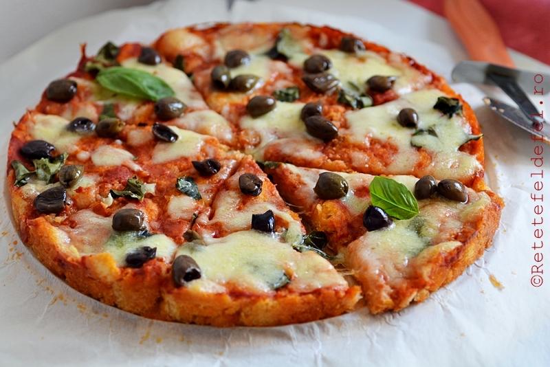 pizza rapida cu blat de paine