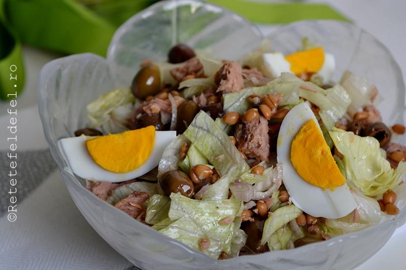 salata cu ton si oua fierte 11