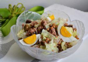 salata cu ton si oua fierte