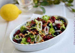 salata verde cu fasole si spelta