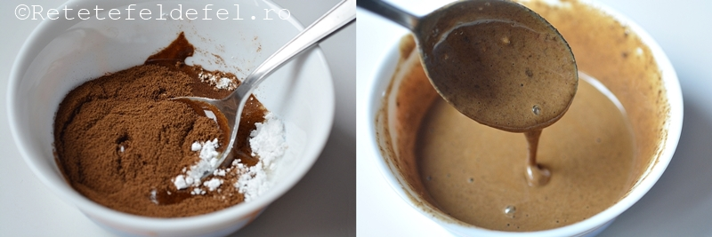 chec cu ciocolata si glazura de cafea