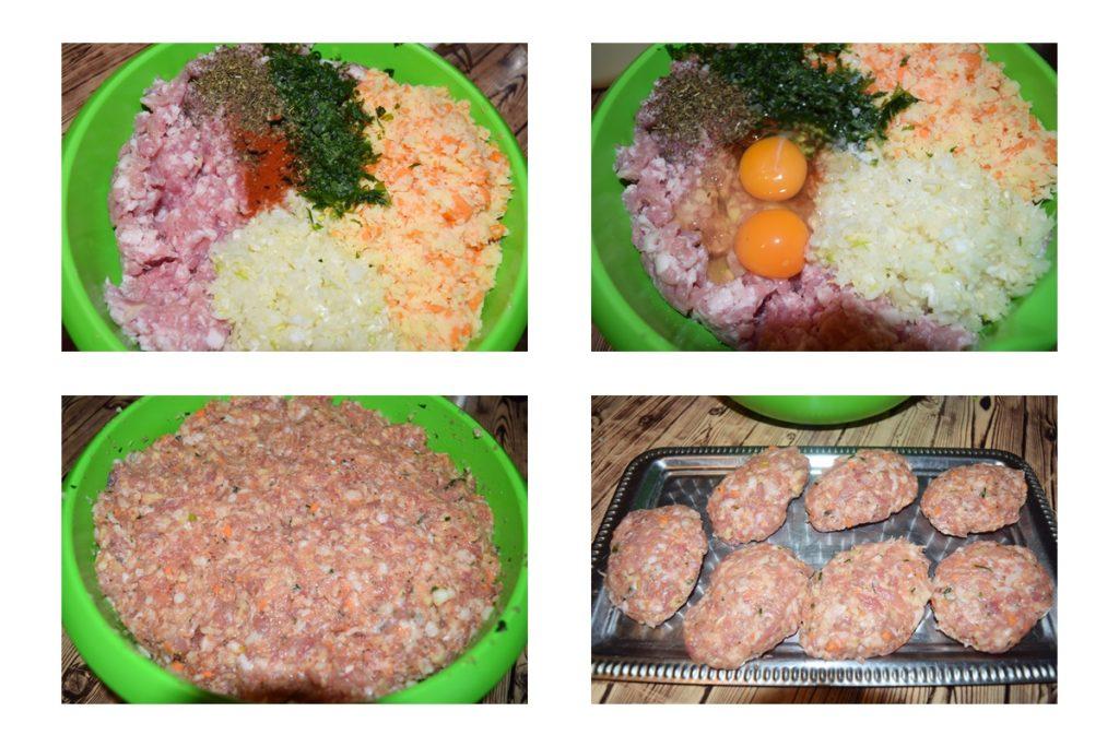 chiftele din carne cu legume