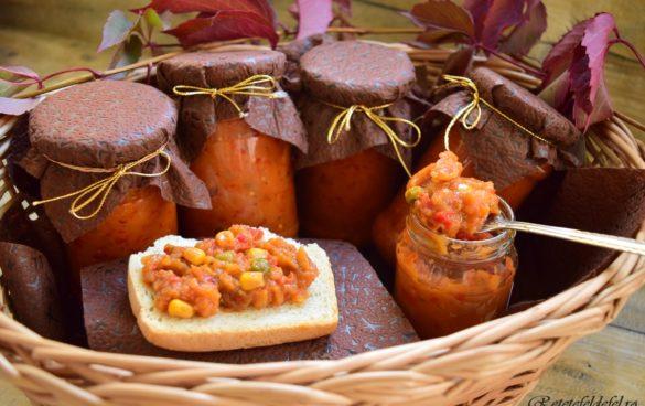 Zacuscă de vinete cu legume mexicane