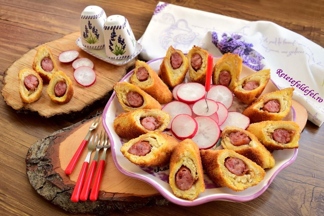 Frigănele din pâine toast și cârnăciori