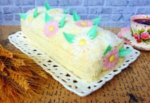 Ruladă cu aromă de vanilie și cocos