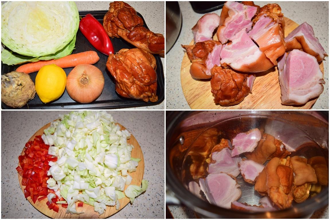 Ciorbă ardelenească de varză cu afumătură-ingrediente