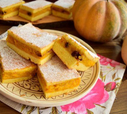 Prăjitură cu aluat turnat și dovleac