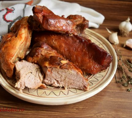 Friptură de porc asortată la cuptor