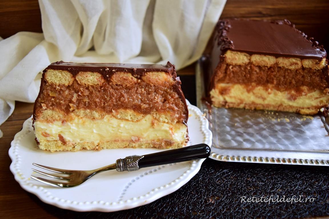 Tort de mere cu vanilie și ciocolată