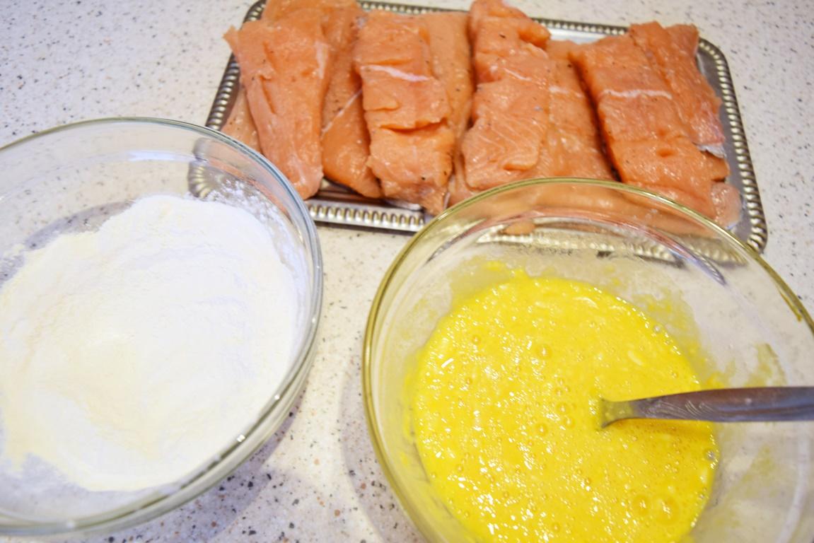 Ingrediente Somon pane în crustă de muștar