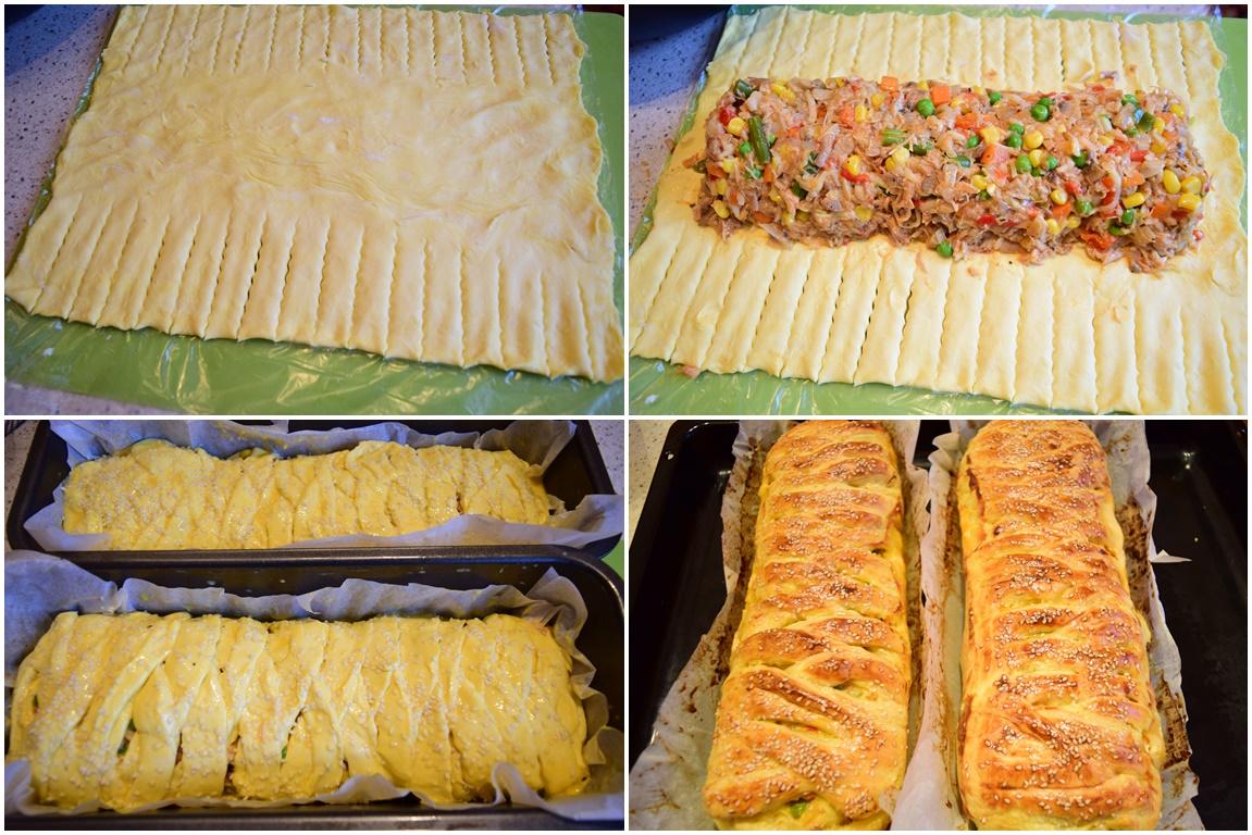Asamblare și coacere plăcintă cu carne și legume