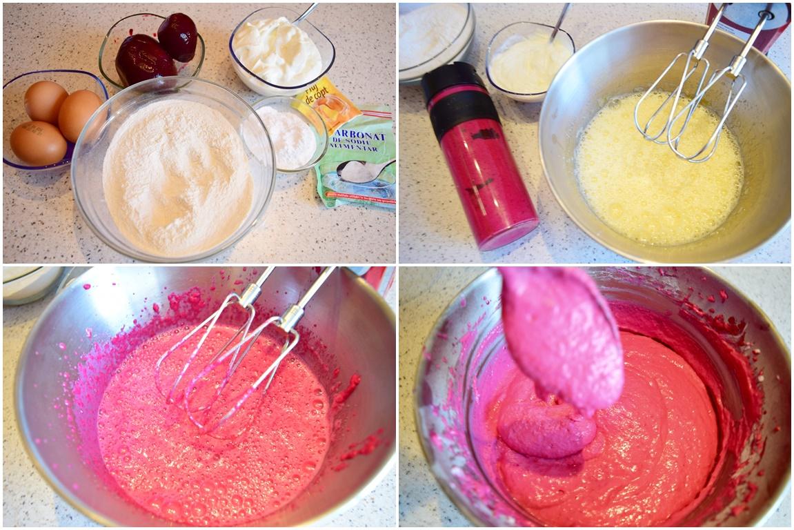 Ingrediente pentru aluatul de vafe cu sfeclă roșie