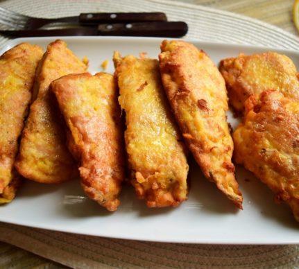Somon pane în crustă de muștar