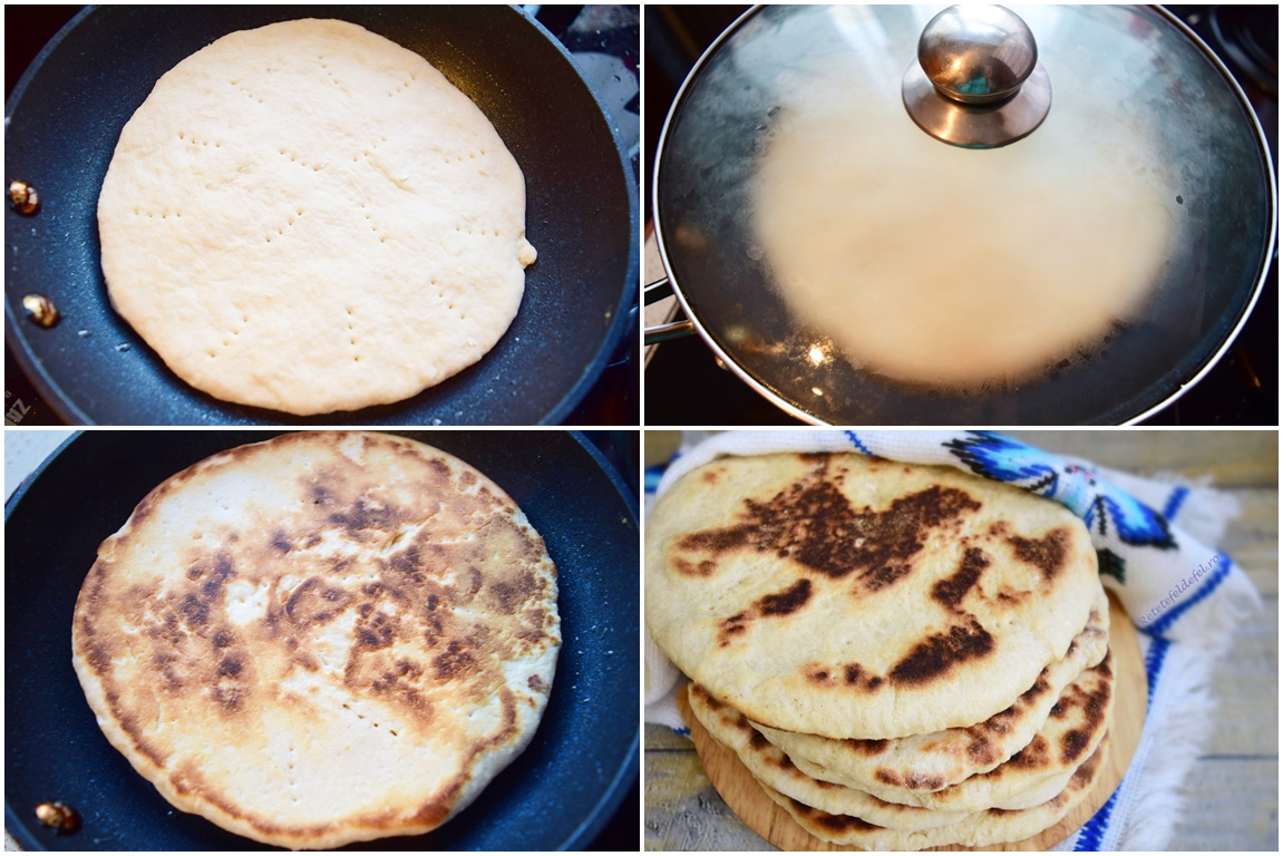 Preparare Turte la tigaie din aluat simplu de pâine