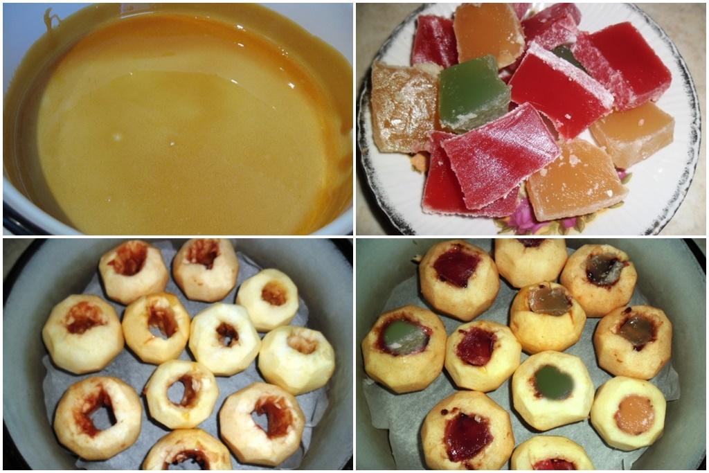 Pregătirea merelor și a zahărului caramelizat, pentru tort