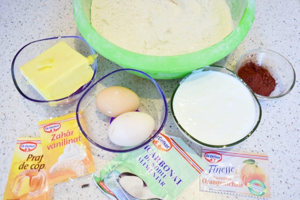 Ingrediente pentru aluat bicolor