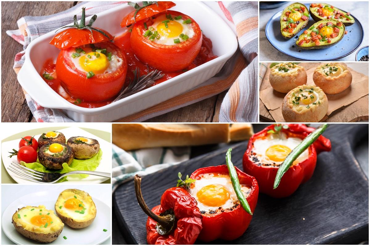 Colaj de poze cu cele șase moduri de preparare a rețetelor de ouă ochiuri